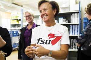 RFSU:s VD Katarina Knutz visade en vibratorring, något som genererade en hel del fniss bland besökarna.