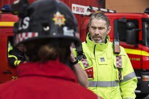 Ted Andersson, som förutom sin roll i VSK är brandman.