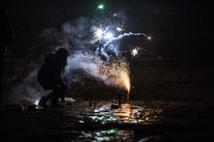 De flesta olyckorna med fyrverkerier sker i anslutning till nyårsfirandet.    Foto: Stian Lysberg Solum /NTB scanpix /TT