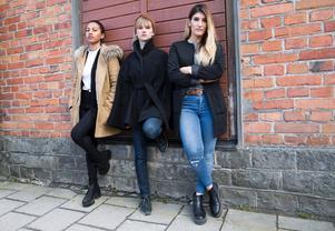 Besvikna. LinneaTengroth, Grete Havnesköld och Manosh Milkonian i Livet, bitch! Iman Keise och Cecilia El-Matni saknas på bilden.