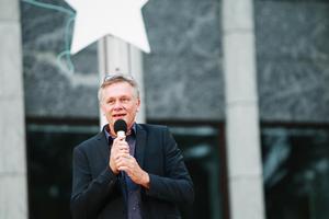 Anders Lerner inviger Kulturnatten 2014.Foto: Alexander Carlsson