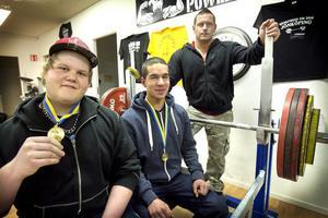 Marcus Mattsson, Daniel Jabbari och Daniel Jansson bärgade SM-medaljer. Även Robin Frölén, ej med på bilden, tog brons.