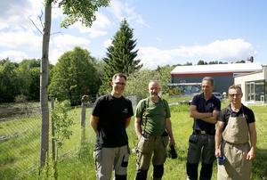 Nils Hausmann, Thorbjörn Ställborn, Herbert Sailer och Max Magnusson vill ha dammen kvar.
