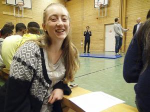 Emilia Axelsson, uttagen i D18-landslaget.