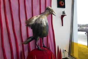 Skulpturer signerade Johan Ask, konstnären från Delsbo.