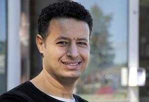 Ayman Ibrahim, troligen Arbrås lyckligaste man.