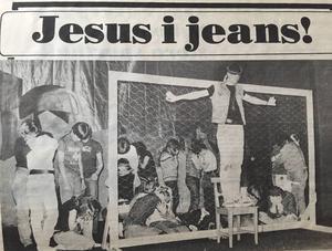 I uppsättningen Godspell, 1982, spelade Jon-Karl Sundh Jesus.