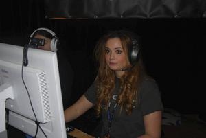 Caroline Berggren, alias missmjao, strömmade sändningar från sitt spelande.