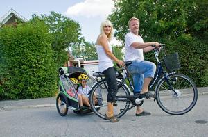 En elcykel och familjen Hurtighs resvanor förändrades drastiskt.