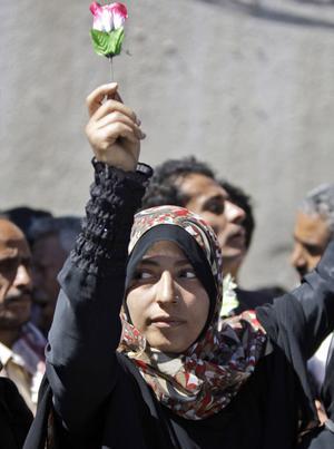 Människorättsaktivisten Tawakkul Karman.