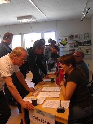 Under hela dagen kom intresserade till arbetsförmedlingen för information om jobb i Norge, Danmark och Island.