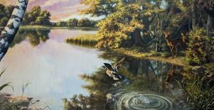 En av Anders Olssons många målningar. Det här är ett original till en tryckt affisch.