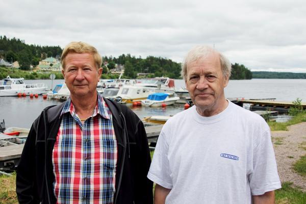 Yngve Andersson och Lars Fröjd från Engelsbergs båtklubb.