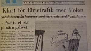 Nynäshamn fick avtalet om färjetrafik till och från Polen.