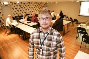 Björn Wedin tyckte att det mest var trevliga möten med de som ville diskutera förbifart Sveg.