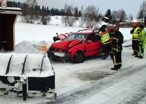 Hastigheten var låg vid kollisionen som skedde nära Marieby.  Foto: Ingvar Ericsson