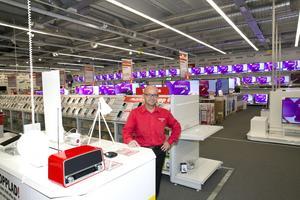 TeknikfrälSt. Stefan Magnusson, varuhuschef på Mediamarkt ser fram emot samarbetet med Noblessa kök.Foto: Per G Norén