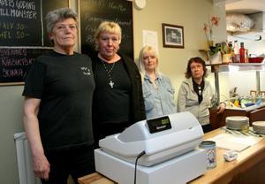 Soppa å en Spik stänger i maj och de vet inte vad som händer sedan. Från vänster handledaren Berit Alvebring, Gun Ågren, Linda-Marie Johansson och Susanne Kährer.
