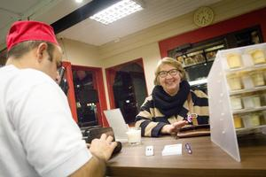 Agneta Mårtensson blev en av de första matgästerna på nya Kalles.
