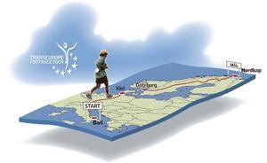 Från Bari till Nordkap är det närmare 450 mil.  Illustration: Kjell Nilsson-Mäki