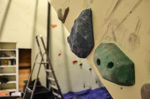 klättring, KFUM-hallen, grepp, bouldering, ombyggnation