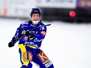Efter helgens 11-4 mot Ljusdal - och hjälp av kalix- är Andreas Lysell och Falu BS i högsta grad med i diskussionerna om elitseriekval. Foto:johan Solum/arkiv