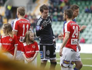Saxton innan allsvenska debuten 2015, mot Kalmar.