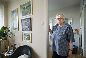 Gerd Waleteg bor i det äldsta HSB-huset på Gärdet och stortrivs.
