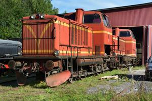 Två diesellok som kommer att tas över av Malmbanans vänner i Luleå.