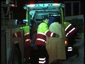 Branden i flerfamiljshus i Krylbo. En kvinna skadades.Foto:Torbjörn Wåhlin