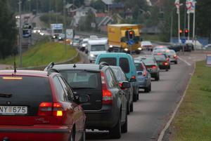 Det är vid riksväg 70/E45 som luftföroreningarna ska mätas. Arkivbild.