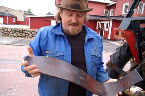 Bäverns svans är gjord av järn.Foto: Carin Selldén