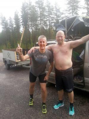 Magnus Embretzen och Sven-Arne Blixö vid sjätte växlingen.