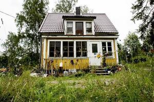 Huset i Åbyggeby där det brutala rånet begicks.