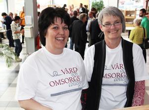 Cecilia Torstensson och Susan Almé – självklara deltagare när vård- och omsorgscollege invigdes på Cfl i tisdags.