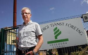 Hedemora Energis vd Sven-Erik Svahn säger att Hedemora har den tredje billigaste elnätsavgiften i länetFOTO: MIKAEL ERIKSSON