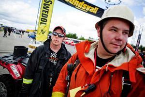 Det fanns gott om brandmän på plats under helgen.