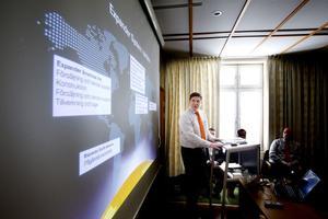 Rolf Schytt, vd för Expander System, hoppas att företaget ska ha fem anställda i Hudiksvall inom ett år.