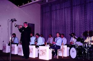 Håttgåbban Big Band med Ernie Englund. Inskickad av Kjell-Erik Ahlgren.