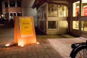 Socialdemokraternas valvaka hölls i Folkets Hus i Hofors.