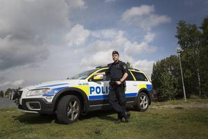 – Genom hög synlighet kan vi förebygga brott, säger David Redin, biträdande närpolischef i närpolisområde öst (Bräcke och Ragunda) samt Ånge.