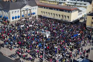 Manifestationen i Härnösand i våras.