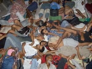 Ökänt fängelse i den västsahariska huvudstaden Laayoune (al-Ayun). Västsahara ockuperas av Marocko sedan 1975  Foto: Sarariska aktivister via Arso.org  COPYRIGHT SCANPIX SWEDEN kod 200