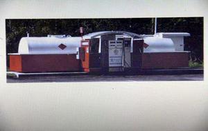 Under informationskvällen presenterades denna bild på en containermack. I Voxnabruk skulle man ha en tank som rymmer 20 kubik bränsle.