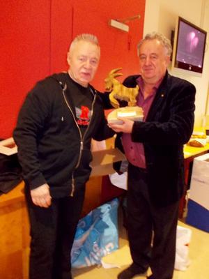 Jerry Williams tillsammans med Curt-Olof Wennberg på Cirkus.