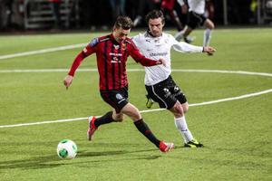 Jamie Hopcutt fick starta i favoritpositionen som högerytter. Då blev han målskytt för ÖFK i matchen mot Örebro som slutade 1–1.