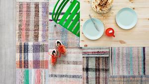 Ikea har en tillfällig kollektion mattor från Turkiet som är handtillverkade av återvunnet material.