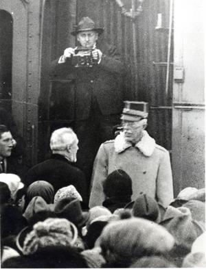 1927 besökte kung Gustav V Gnarps station i fem minuter. Foto: privat.