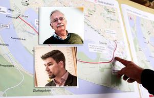 Lars Molin (M) och Markus Evensson (S) ska tillsammans med övriga Ljusdalspolitiker fatta beslut om ett eventuellt vägbyte med Trafikverket.