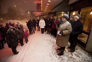 – Han deltog i kampen för ett mer jämlikt samhälle, säger kommunalrådet Carina Blank, S, som höll i invigningen av Olof Danielssons gata.
